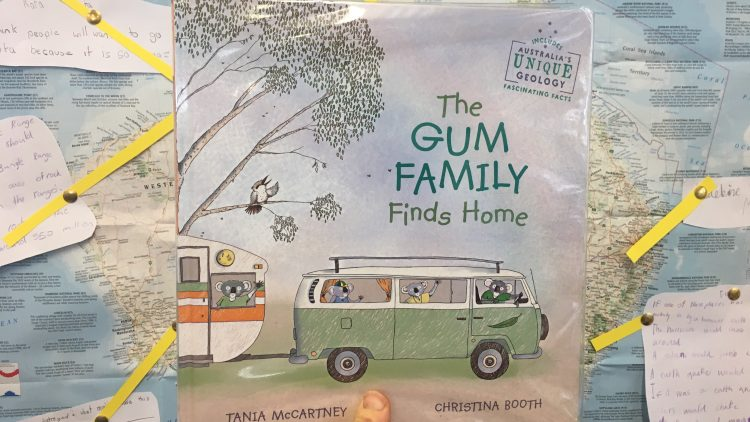 The gum family finds home by Tania McCartney and Christina Booth.